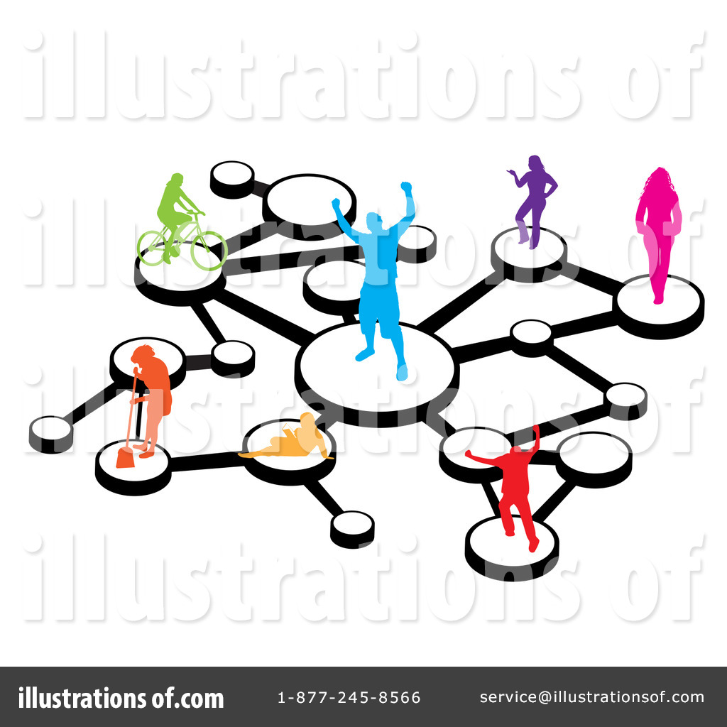 social network clipart 1062842 illustration by arena creative rh illustrationsof com computer networking clipart networking clipart free