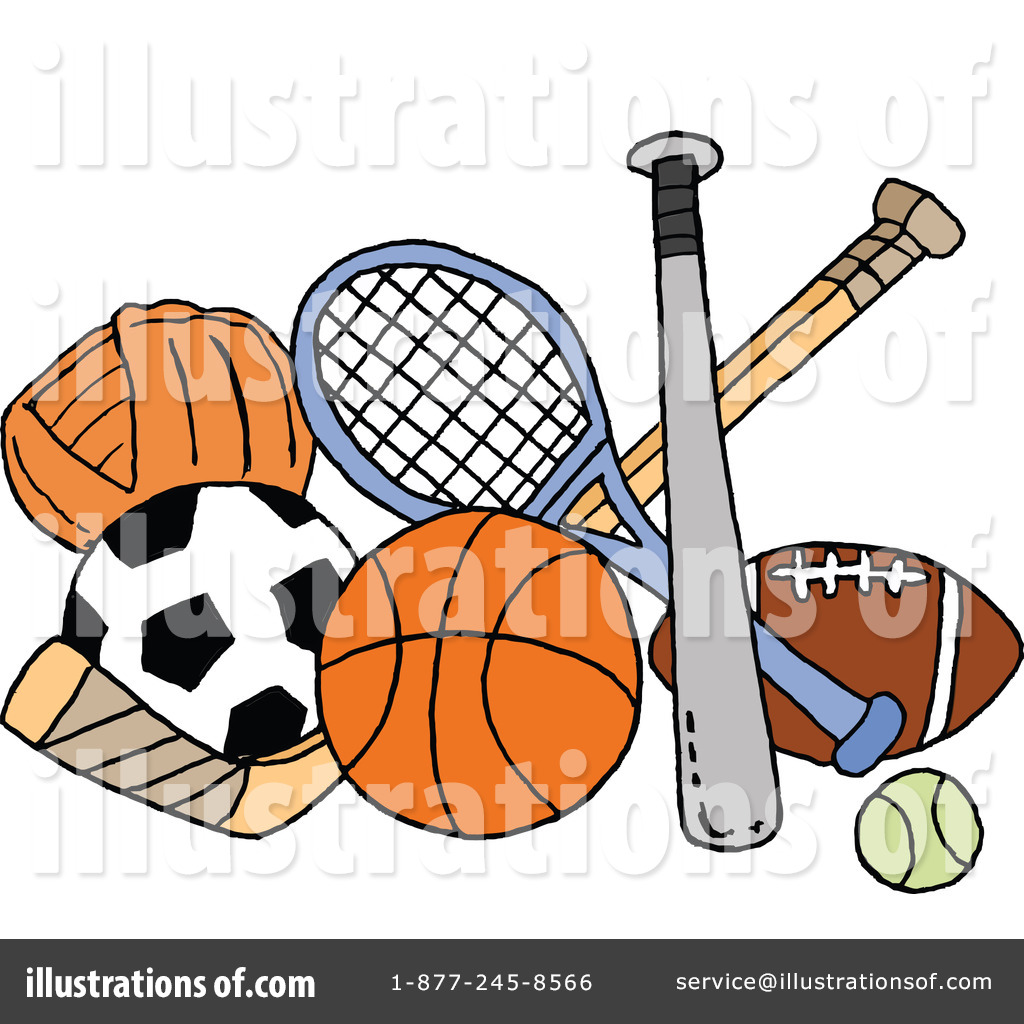Sports Clipart #1109302 - Illustration by LaffToon