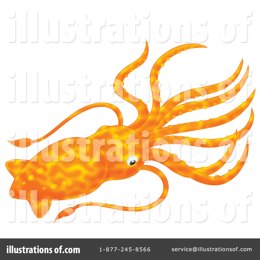 Clip Art Squid Clipart squid clipart 1096564 illustration by alex bannykh royalty free rf bannykh