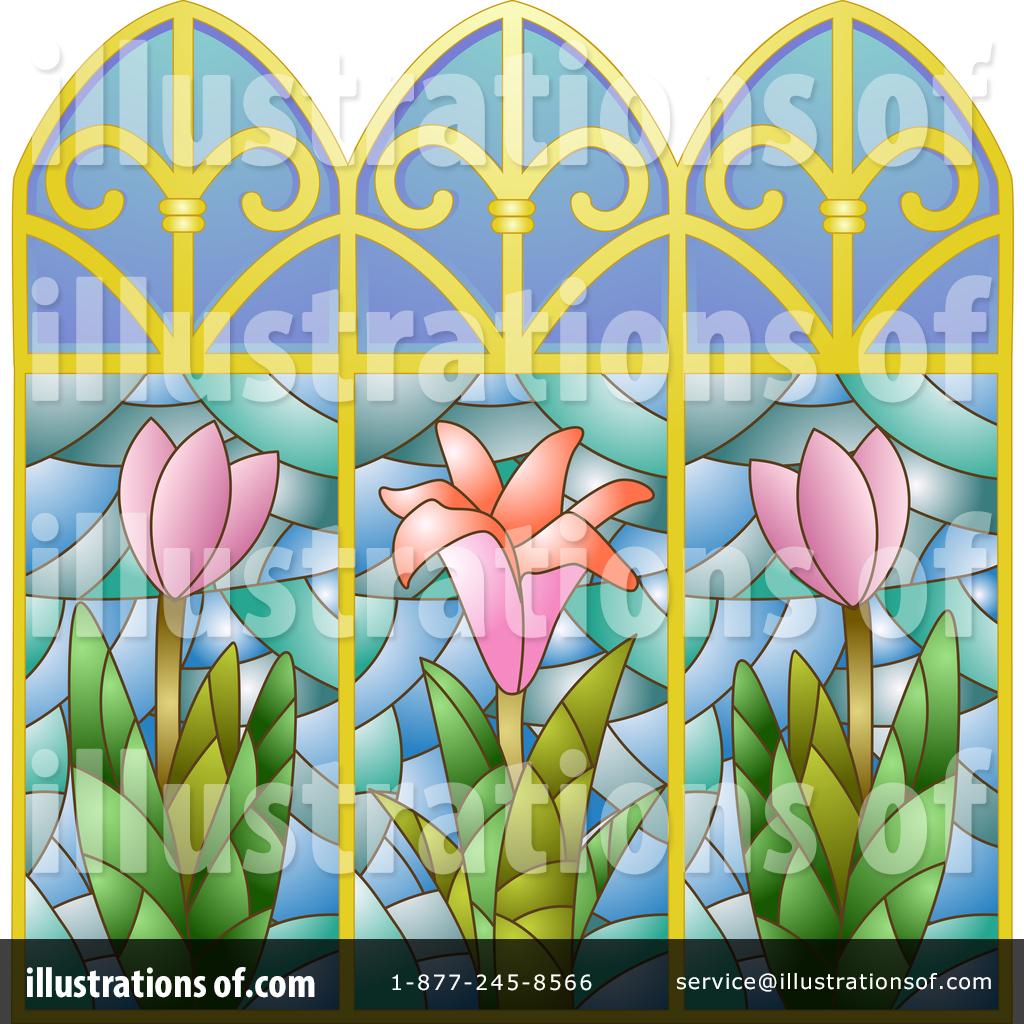 Stained Glass Clipart #1418671 - Illustration by BNP Design Studio