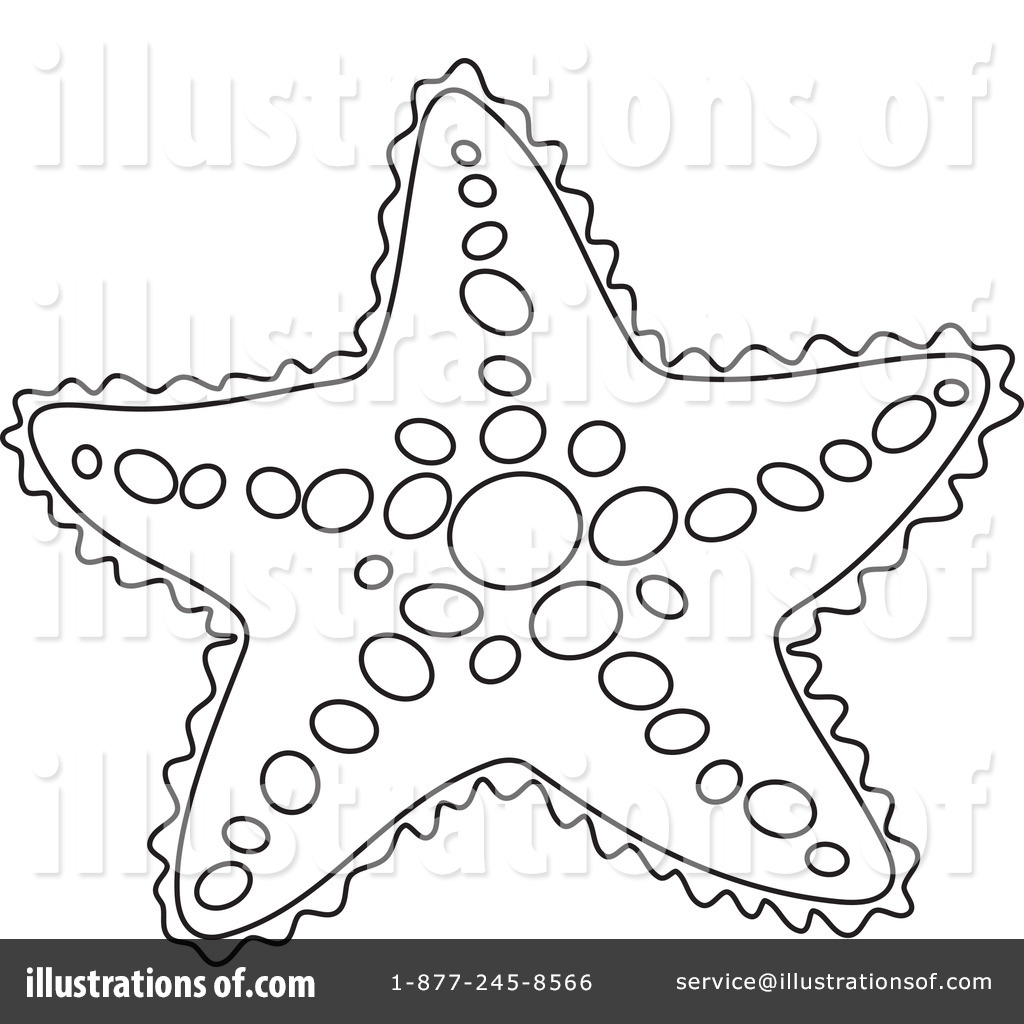 Starfish Clipart #1229251 - Illustration by Alex Bannykh for Starfish Clipart Black And White  181plt