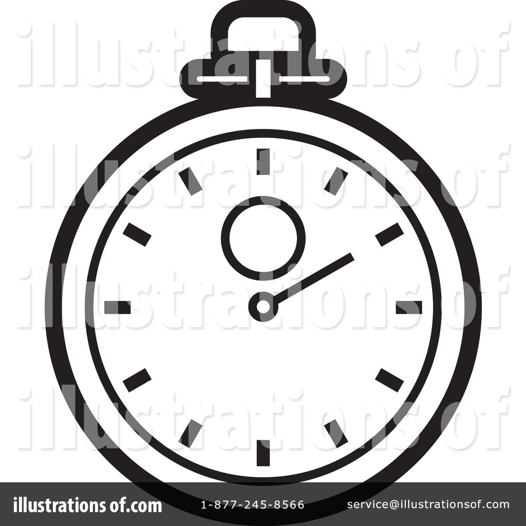 Stopwatch Clipart 1239039 Illustration By Lal Perera