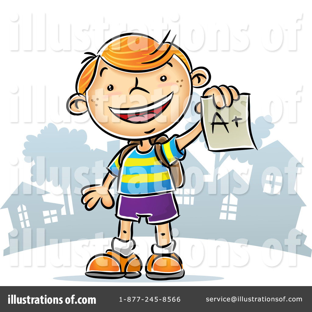 Student Clipart #71457 - Illustration by Qiun