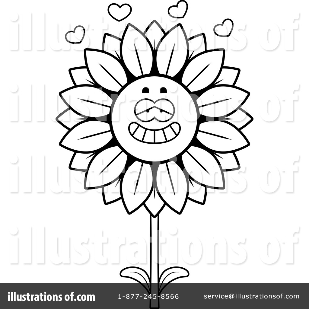 Sunflower Clipart #1141986 - Illustration by Cory Thoman