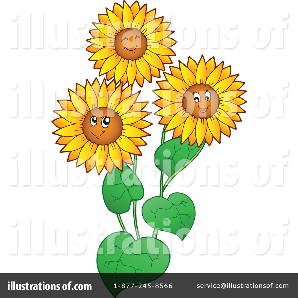 Royalty Free RF Sunflowers Clipart Illustration 1064163 By Visekart
