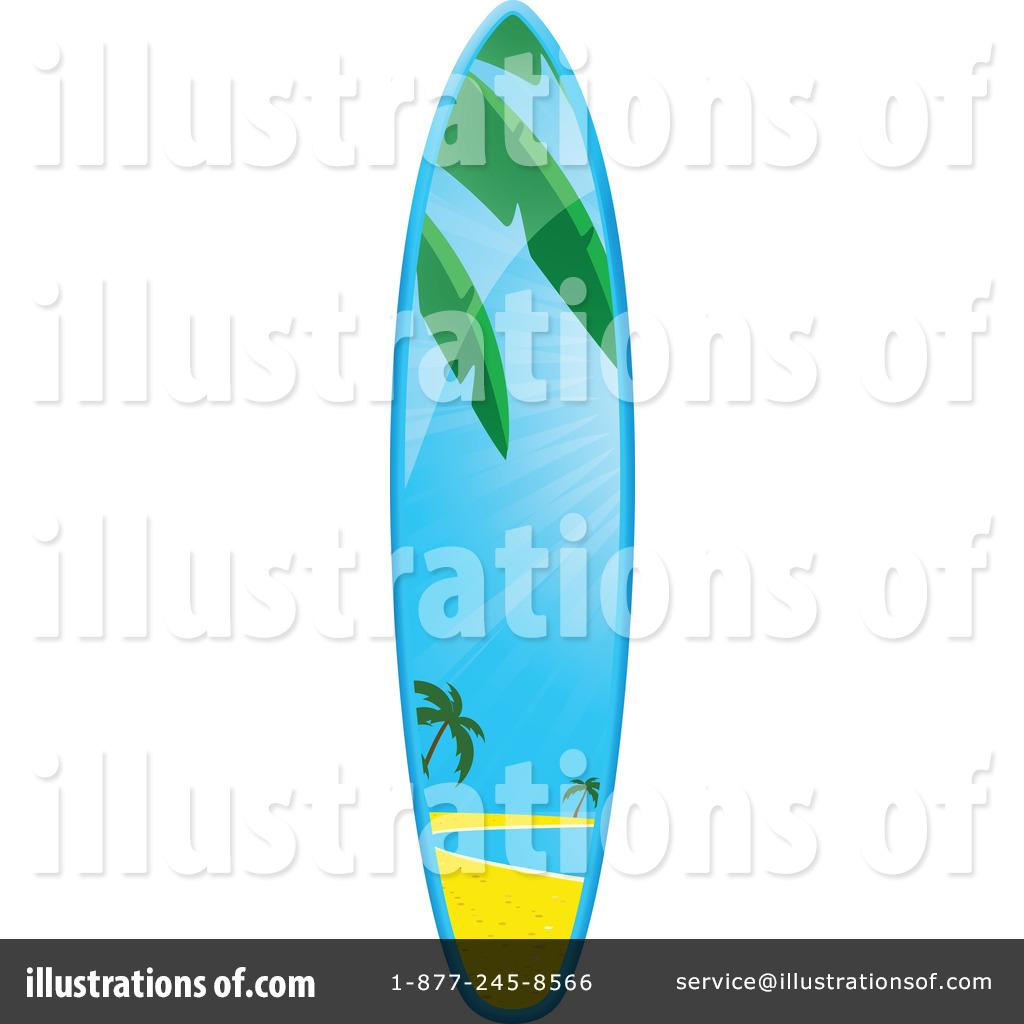 7eb338a41d9 Royalty-Free (RF) Surfboard Clipart Illustration by elaineitalia - Stock  Sample  1056664