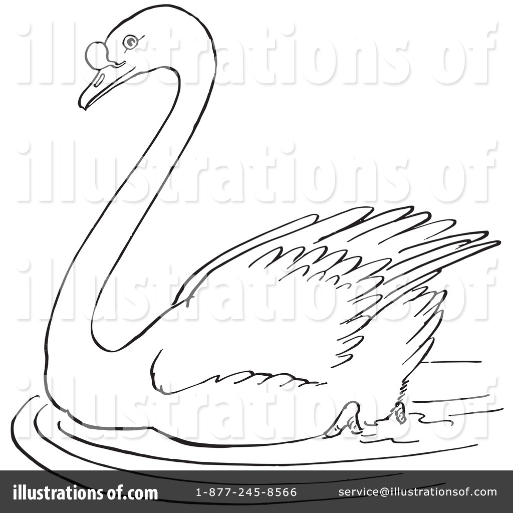 royalty free rf swan clipart illustration 1129246 by picsburg