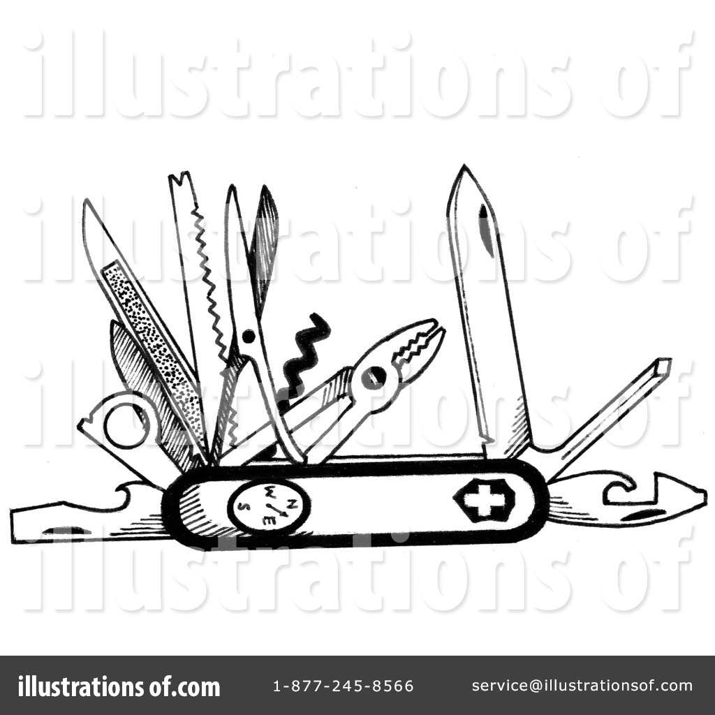Swiss Army Knife Clipart 1238413 Illustration By Loopyland