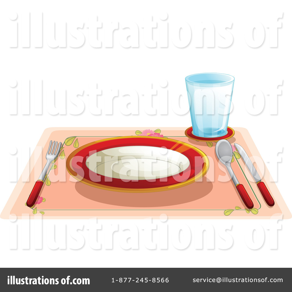 Table Setting Clipart Part - 31: Royalty-Free (RF) Table Setting Clipart Illustration By Graphics RF - Stock  Sample
