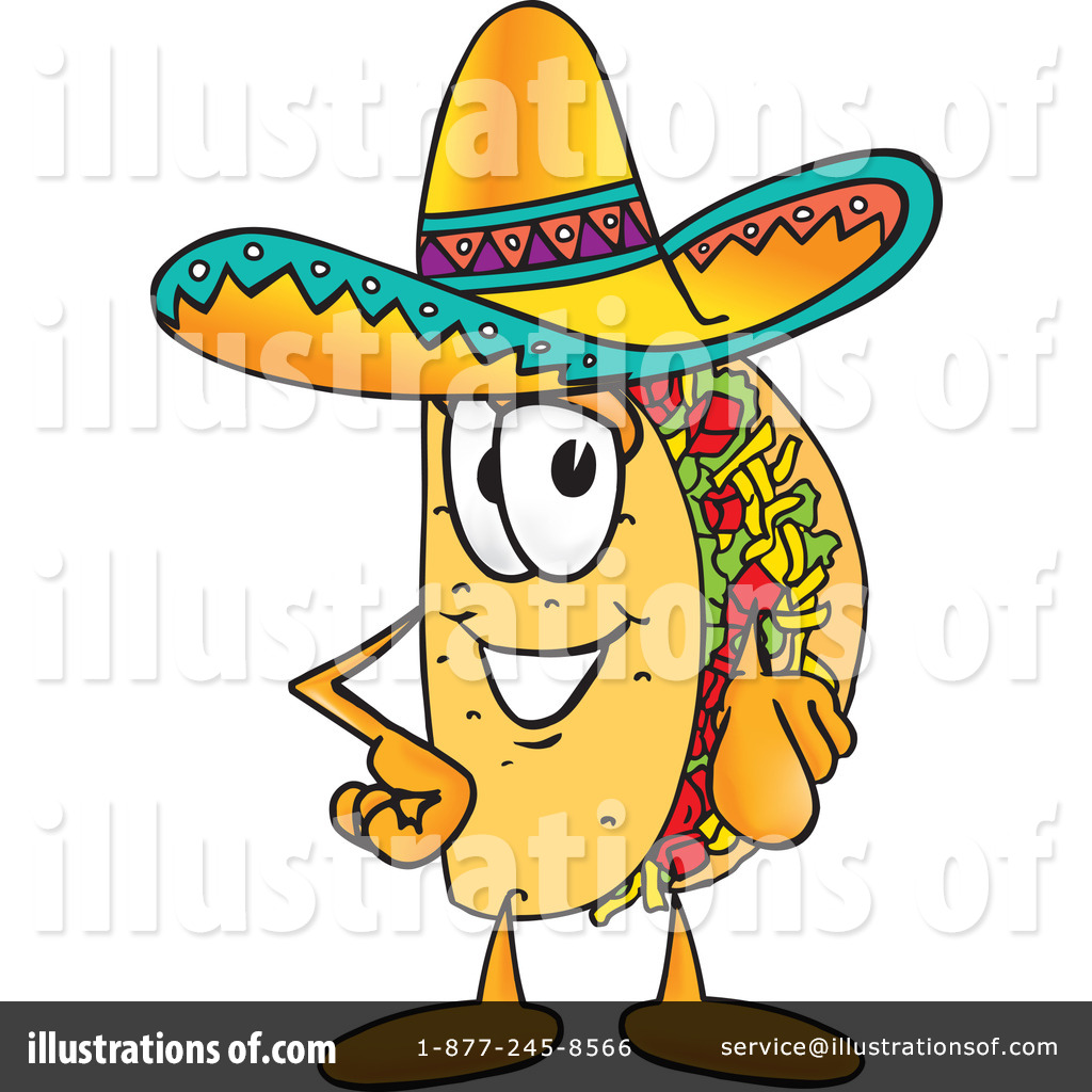 Taco royalty free. Clipart illustration by toons