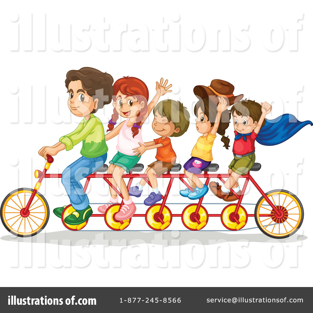 Royalty Free RF Tandem Bike Clipart Illustration By Graphics