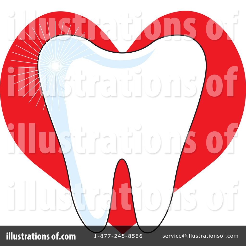 Heart stock illustration royalty free illustrations stock clip art - Royalty Free Rf Tooth Clipart Illustration By Maria Bell Stock Sample