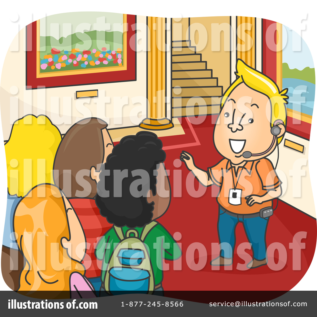 Royalty Free RF Tour Guide Clipart Illustration 1346786 By BNP Design Studio
