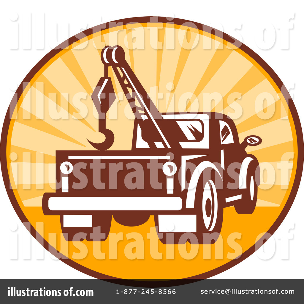 Tow Truck Clipart #92054 - Illustration by patrimonio