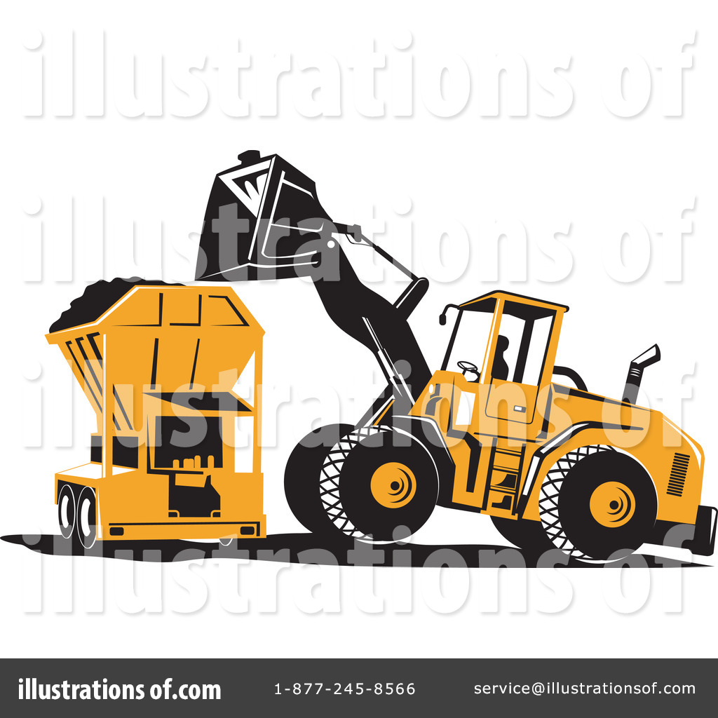 Tractor Clipart #1144852 - Illustration by patrimonio