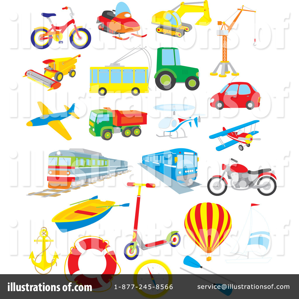 Transportation Clipart #1078314 - Illustration by Alex Bannykh
