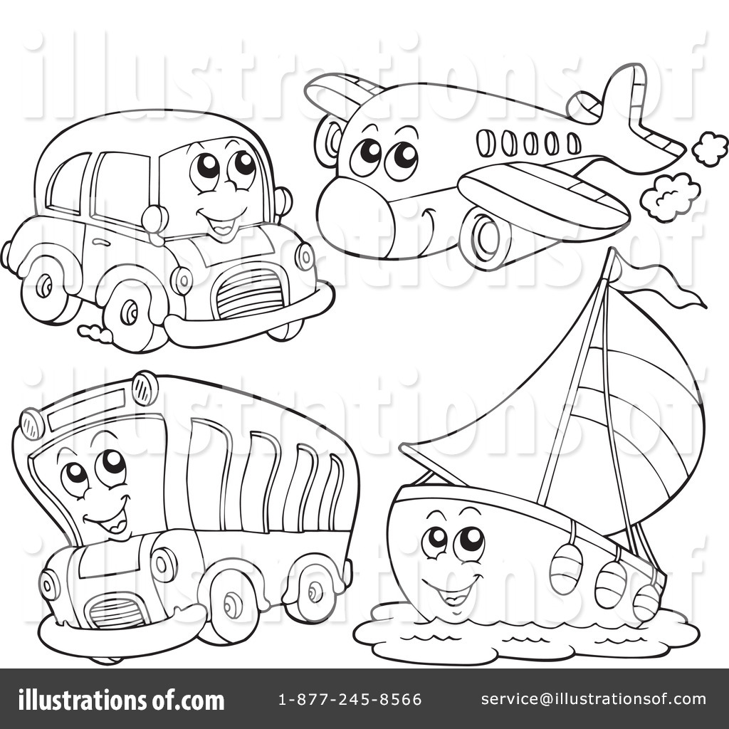 Well-liked Transportation Clipart #231694 - Illustration by visekart FO67