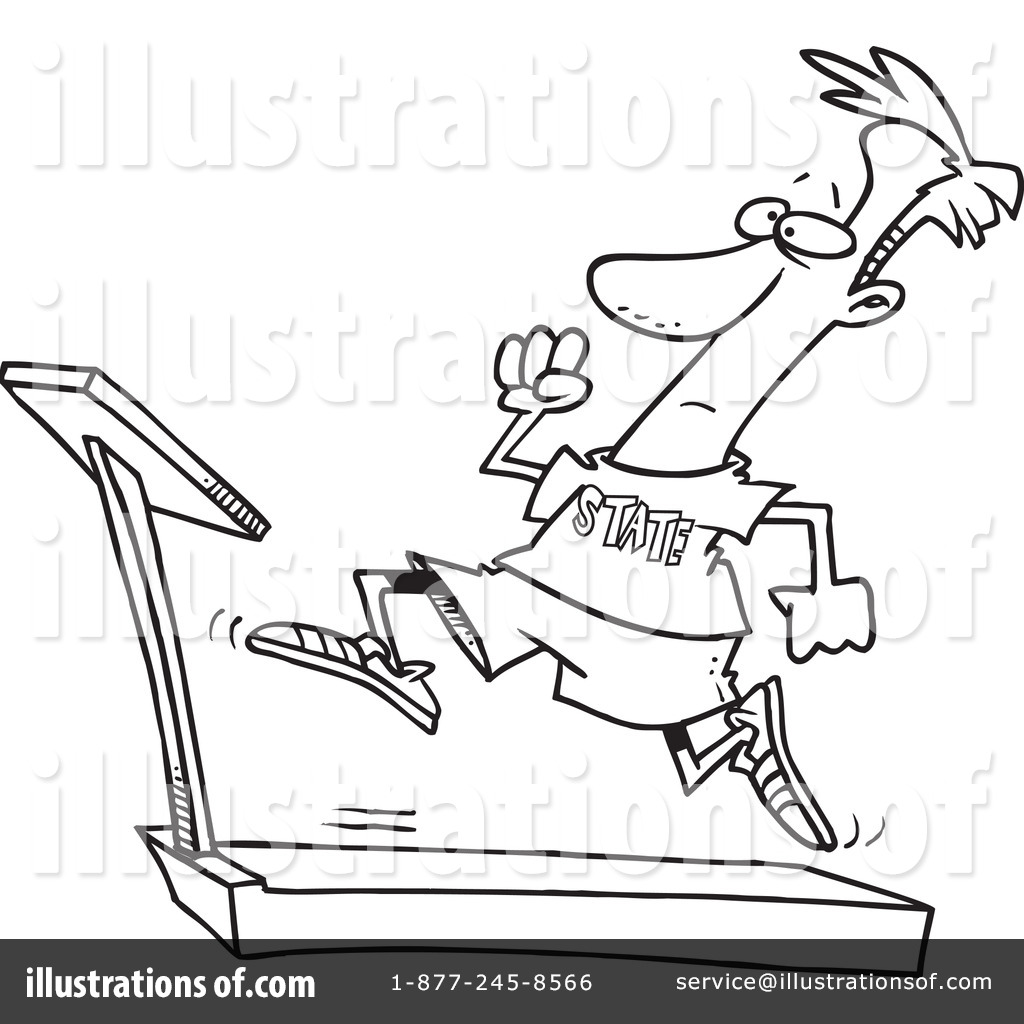 Treadmill Clipart #438516 - Illustration by Ron Leishman