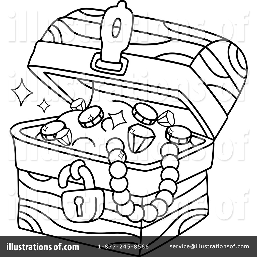 Treasure Chest Clipart #1279211 - Illustration by BNP Design Studio
