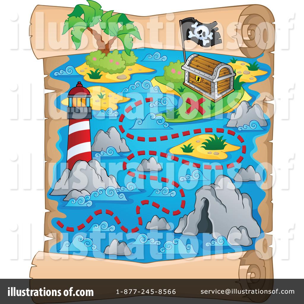 Treasure Map Clipart #1174163  Illustration By Visekart