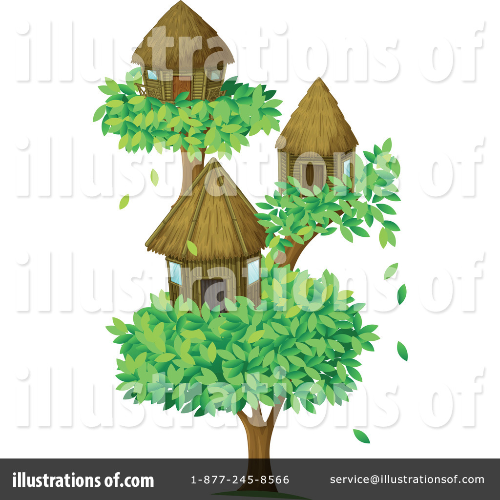 Tree House Clipart #1122618 - Illustration by colematt