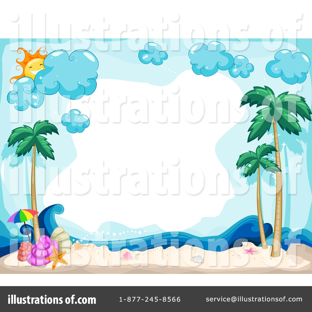 Royalty Free RF Tropical Beach Clipart Illustration 1066569 By BNP Design Studio