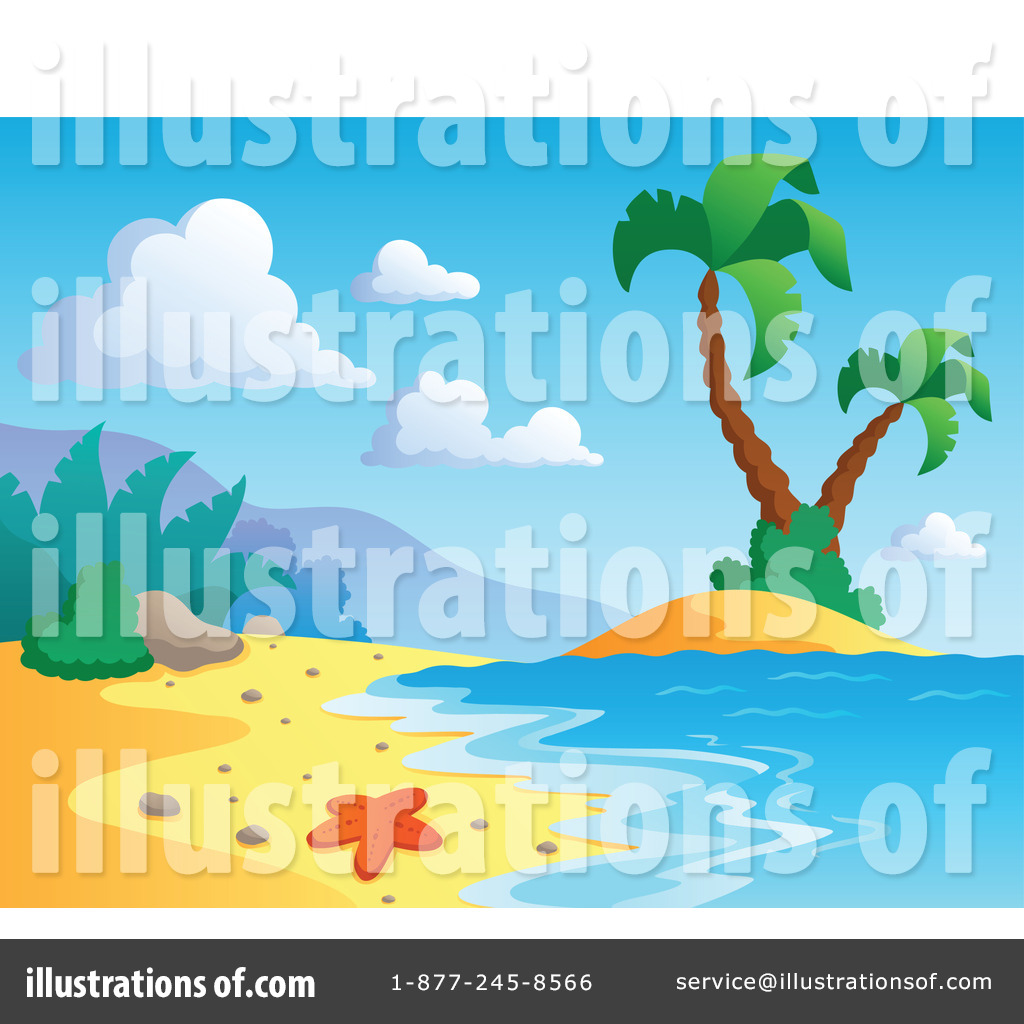 Royalty Free RF Tropical Beach Clipart Illustration 1096969 By Visekart