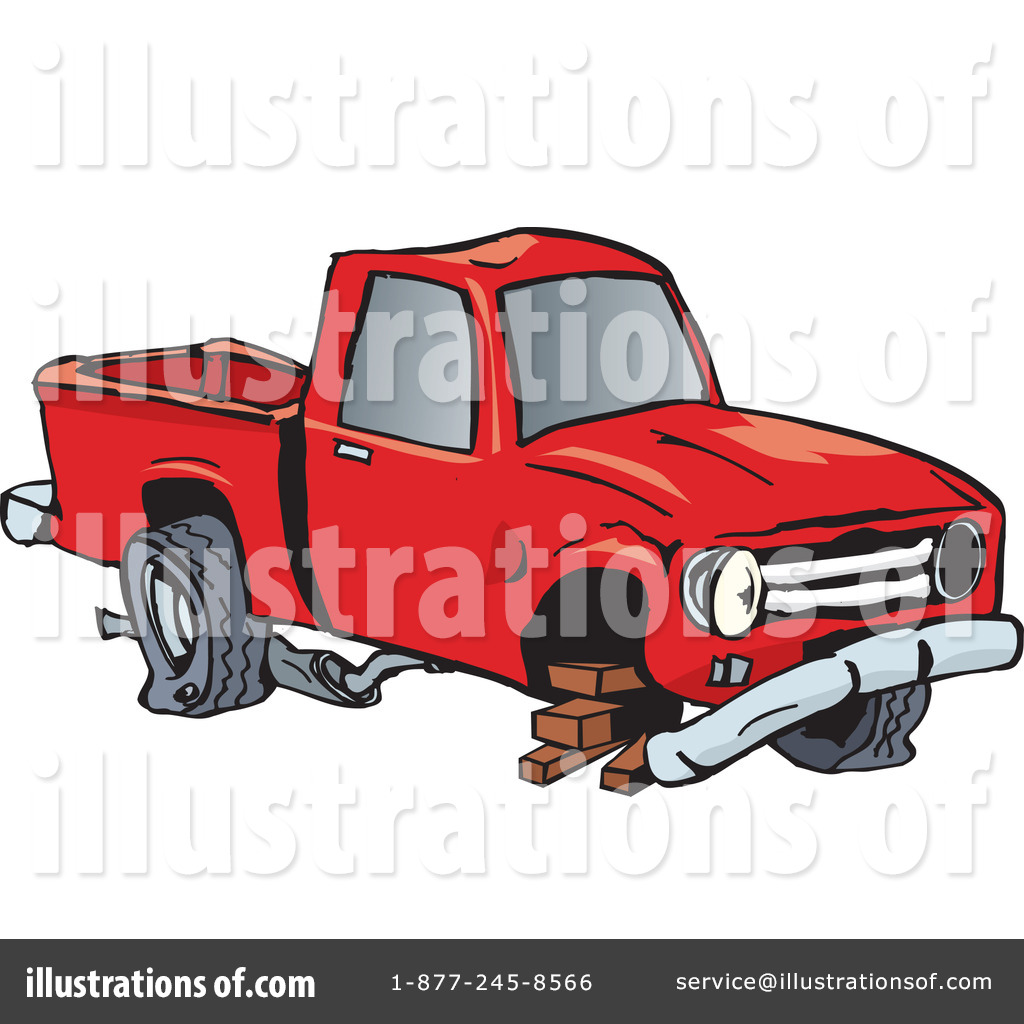 Green truck clipart royalty free rf pickup truck clipart - Royalty Free Rf Truck Clipart Illustration By Dennis Holmes Designs Stock Sample