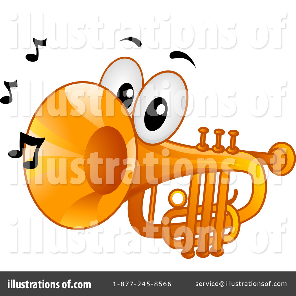 Trumpet Clipart #1145331 - Illustration by BNP Design Studio