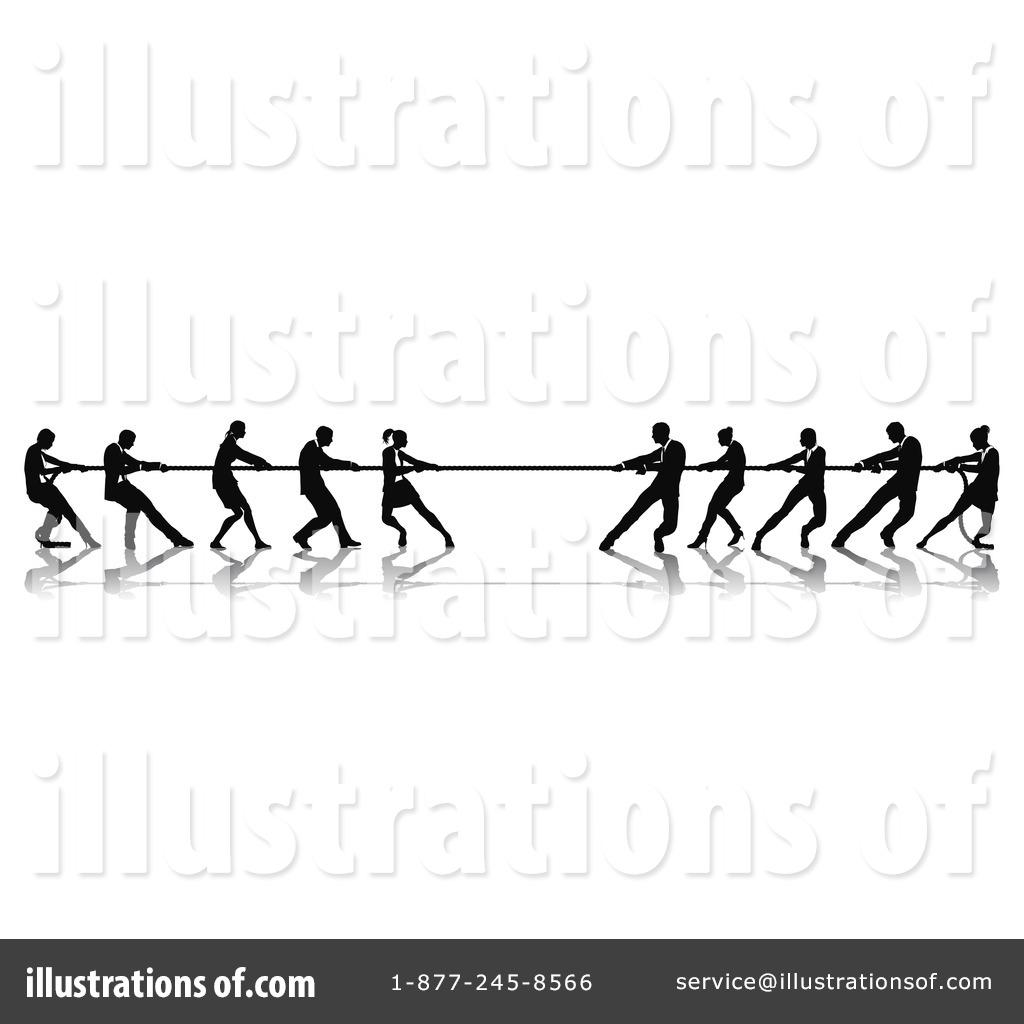 Tug Of War Clipart #1062747 - Illustration by AtStockIllustration