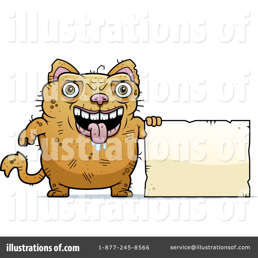 Ugly Cat Clipart 1103392 Illustration By Cory Thoman