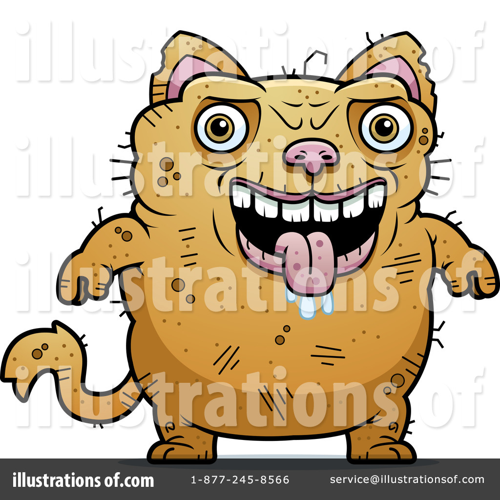Ugly Cat Clipart 1103393 Illustration By Cory Thoman