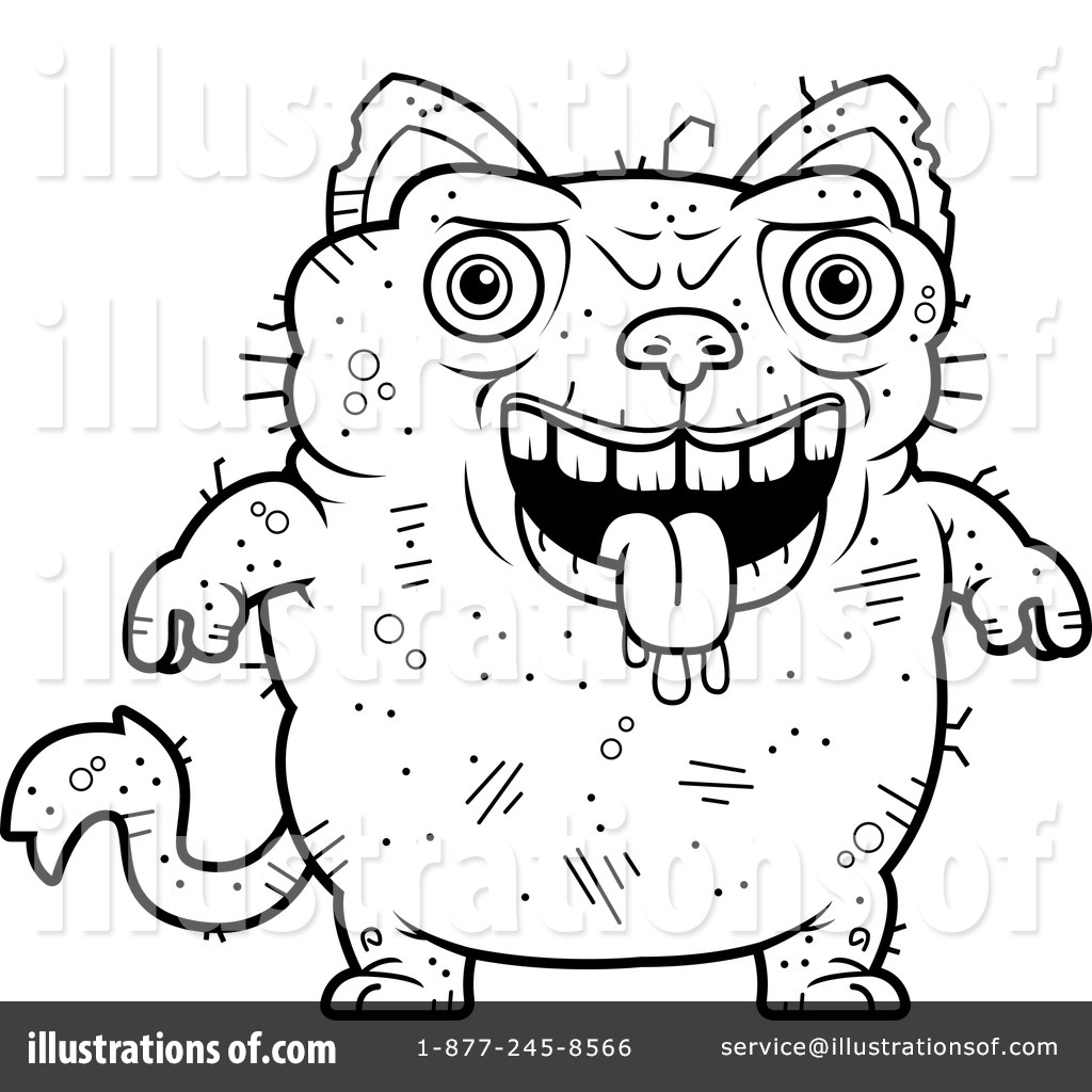Ugly Cat Clipart 1129897 Illustration By Cory Thoman