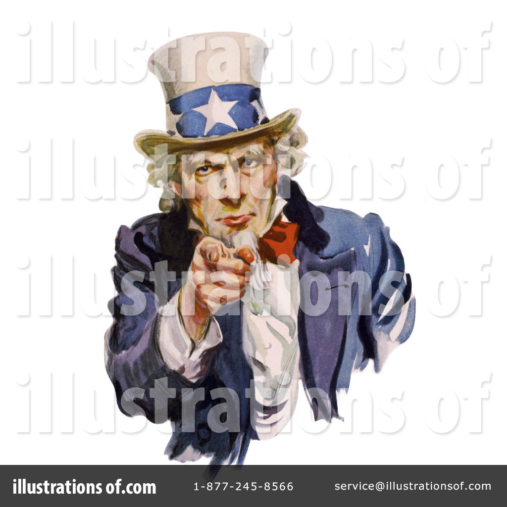 Uncle Sam Clipart #1069675 - Illustration by JVPD
