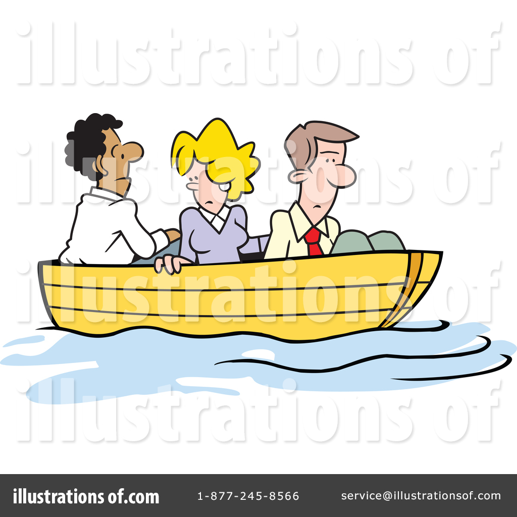 Up The Creek Without A Paddle Clipart #1384323 - Illustration by ...