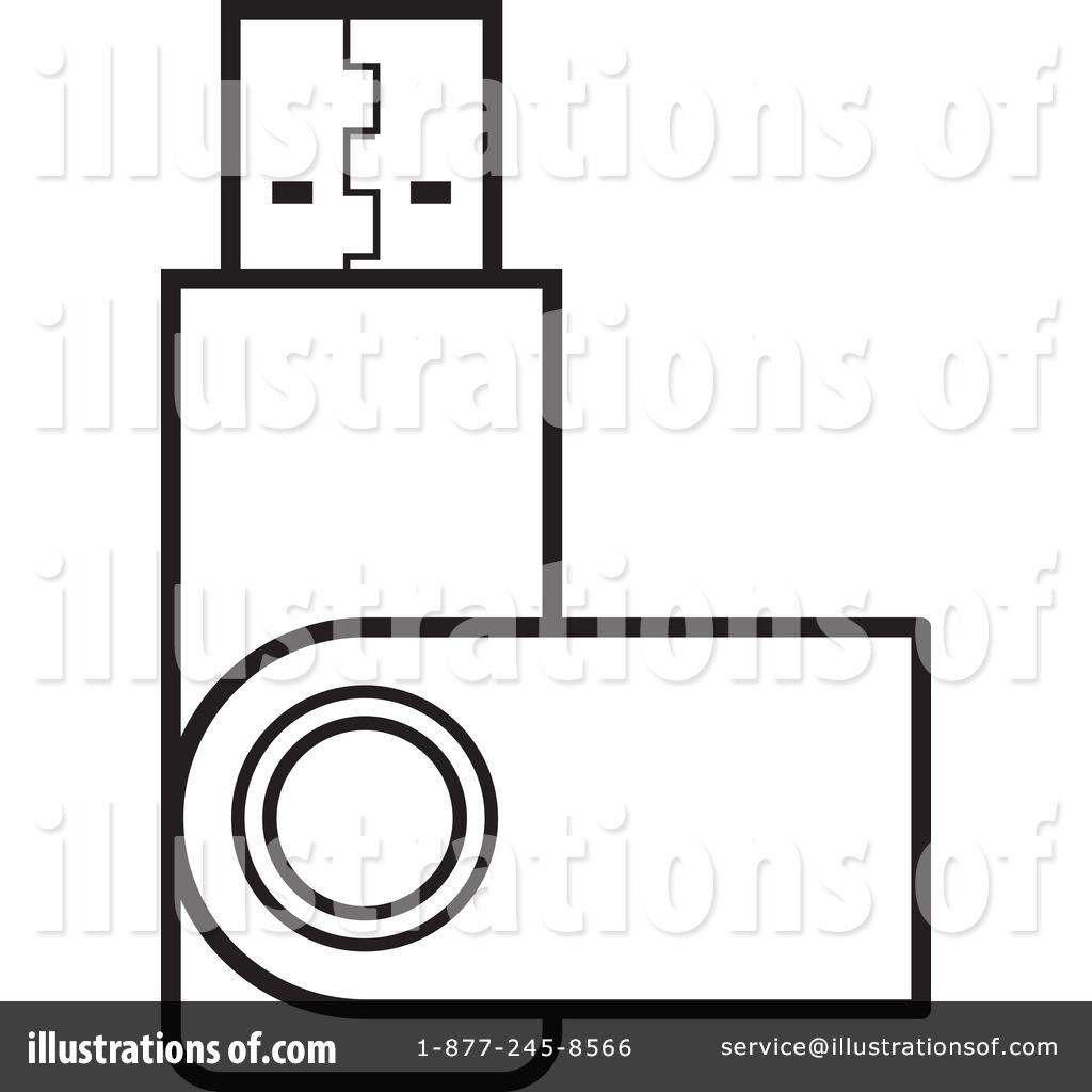 Usb Clipart #1155943 - Illustration by Lal Perera