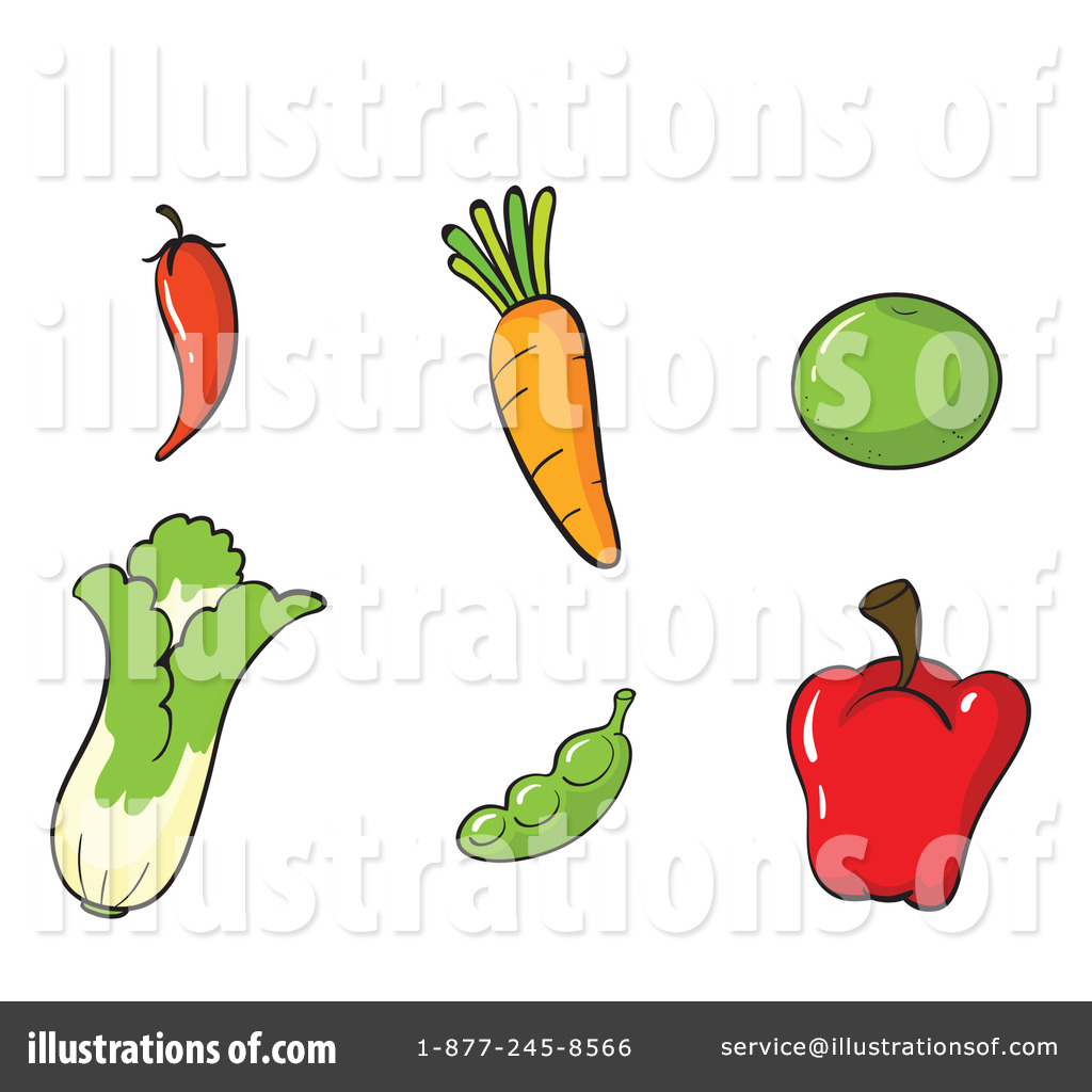 Veggie Clipart #1133172 - Illustration by colematt