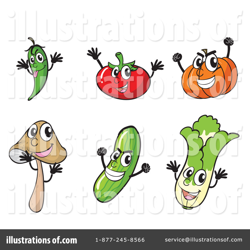 Veggie Clipart #1134232 - Illustration by colematt