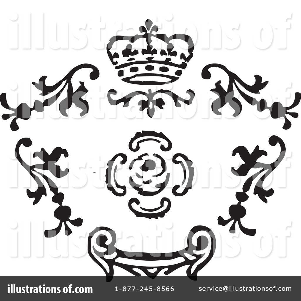 Victorian Design Elements victorian design elements clipart #1084183 - illustration
