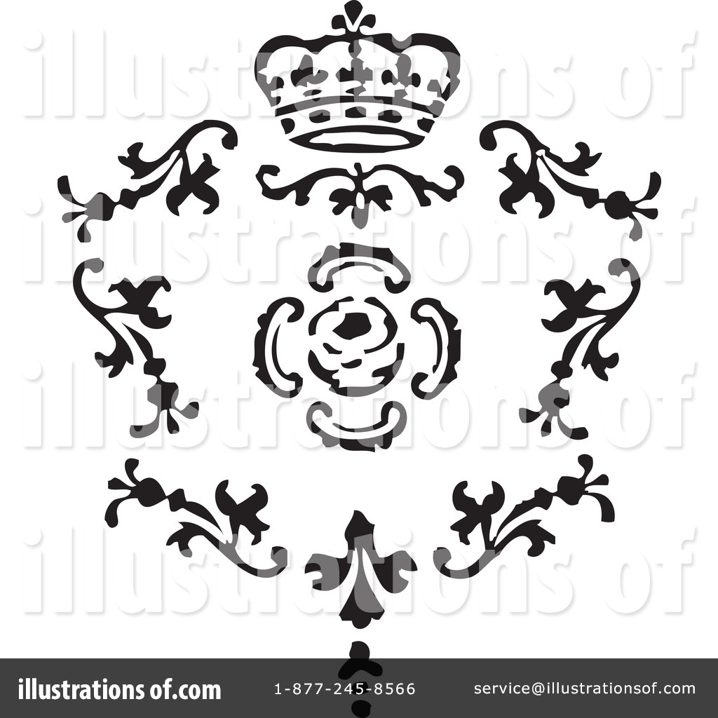 Victorian Design Elements victorian design elements clipart #1084190 - illustration