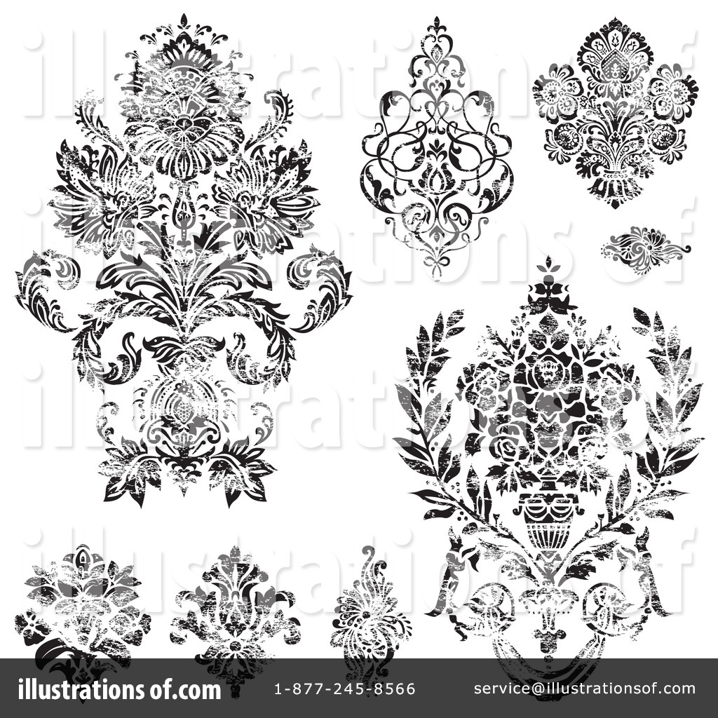 Victorian Design Elements Clipart #1084207 - Illustration by ...