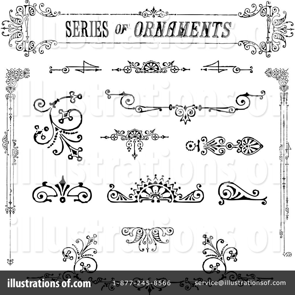 Royalty-Free (RF) Victorian Design Elements Clipart Illustration by  BestVector - Stock Sample