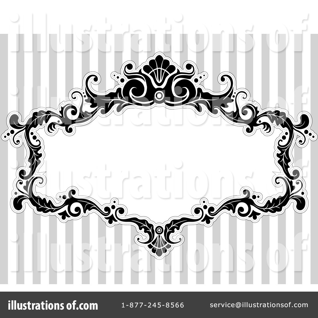 Royalty Free RF Victorian Frame Clipart Illustration 1050058 By BNP Design Studio