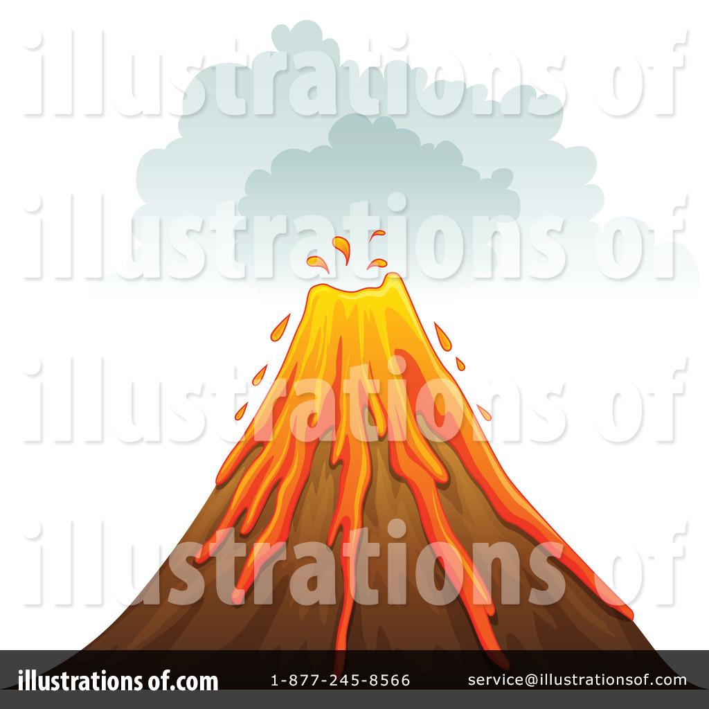 Volcano Clipart #1115430 - Illustration by colematt