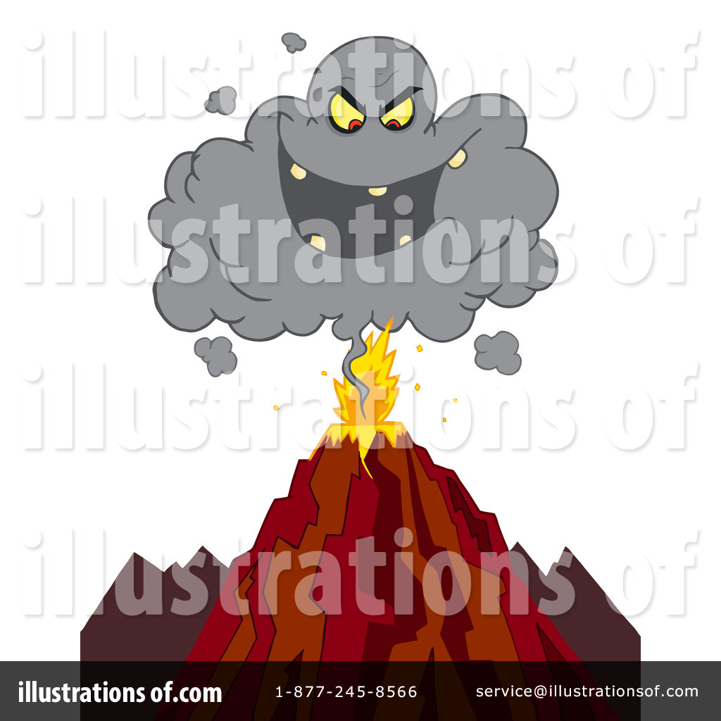 Volcano Clipart #103931 - Illustration by Hit Toon