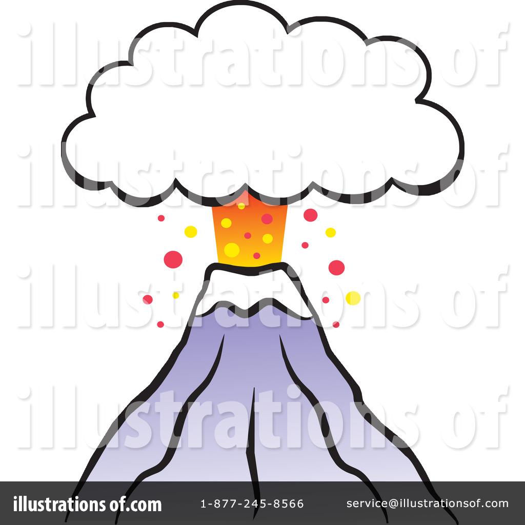 Volcano Clipart #1109608 - Illustration by Johnny Sajem