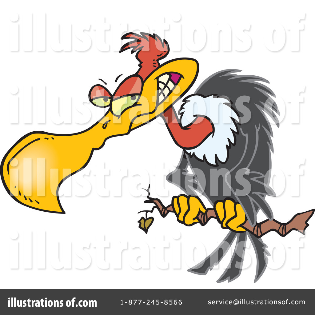 Vulture Clipart #440718 - Illustration by Ron Leishman
