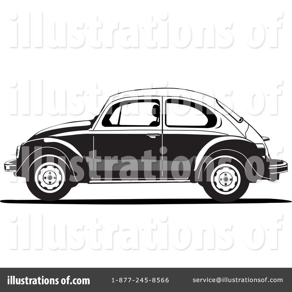 Vw Beetle Clipart #1181600 - Illustration by David Rey