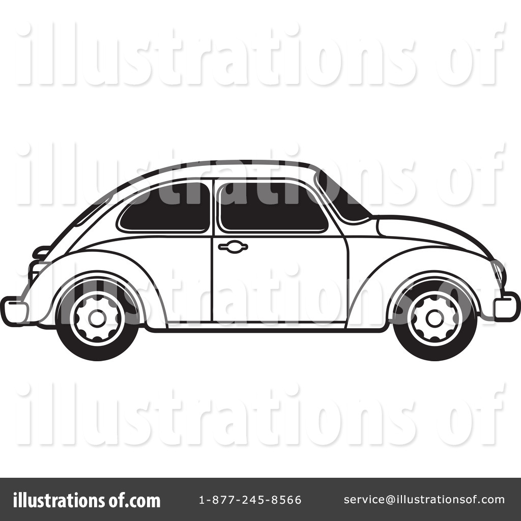 Royalty Free RF Vw Bug Clipart Illustration By Lal Perera