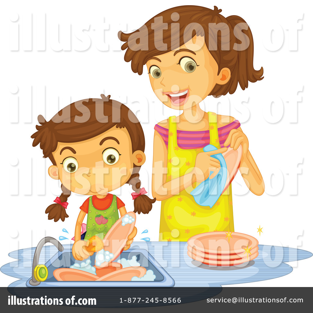 Best Washing Dishes Illustrations Royalty Free Vector: Washing Dishes Clipart #1140307